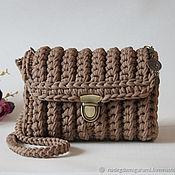Классическая сумка ручной работы. Ярмарка Мастеров - ручная работа Вязаная сумка. Handmade.