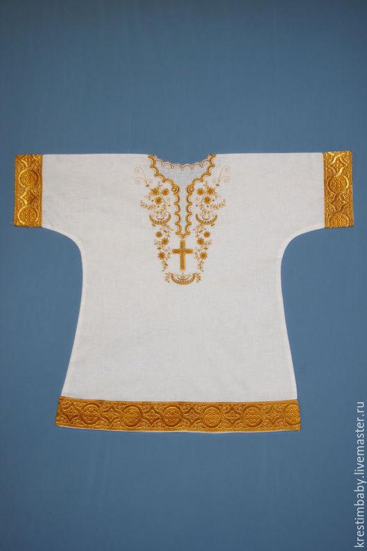 Крестильные принадлежности ручной работы. Ярмарка Мастеров - ручная работа. Купить Крестильная рубашечка. Handmade. Белый, крестильная рубашка