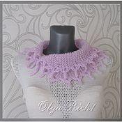 handmade. Livemaster - original item Scarf-collar from mohair yarn.. Handmade.