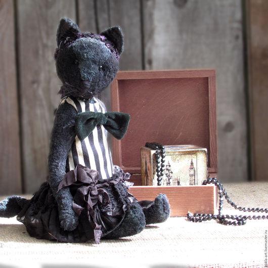 Мишки Тедди ручной работы. Ярмарка Мастеров - ручная работа. Купить Чарли, тедди-кошка. Handmade. Черный, лондон, хлопок