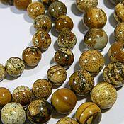 Beads1 handmade. Livemaster - original item Landscape Jasper, sterling silver beads 8 10 mm. Price per piece. Handmade.