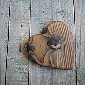 Подарки к праздникам ручной работы. Ярмарка Мастеров - ручная работа Малявочка - сердечко деревянное. Handmade.