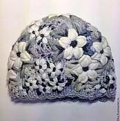 Аксессуары ручной работы. Ярмарка Мастеров - ручная работа Шапочка серая с вышивкой. Handmade.