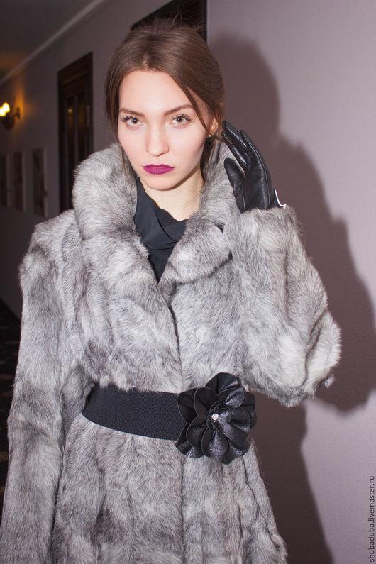 Верхняя одежда ручной работы. Ярмарка Мастеров - ручная работа. Купить Пальто из козы. Handmade. Серый, подарок, Дизайнерское пальто