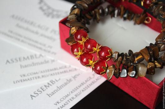 """Браслеты ручной работы. Ярмарка Мастеров - ручная работа. Купить Браслет """"Flamenco2"""". Handmade. Ярко-красный, безразмерный, красный, подарок"""
