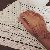 Для дома и интерьера ручной работы. Ярмарка Мастеров - ручная работа одеяло белое. Handmade.
