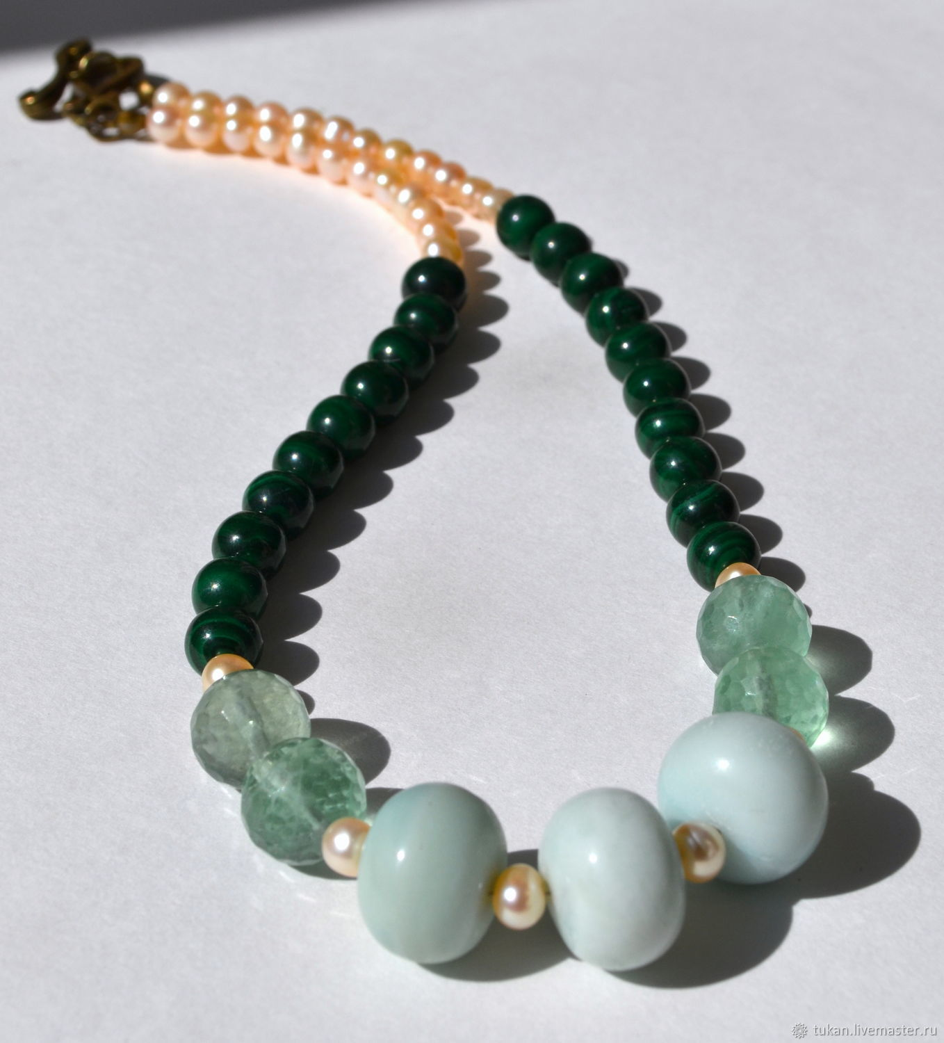 Necklaces & Beads handmade. Livemaster - handmade. Buy Necklace Inspiration and love.Handmade, natural stones, rhinestone