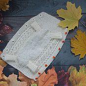 handmade. Livemaster - original item Overalls for dogs knitted downy. Handmade.