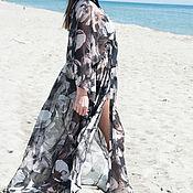 Одежда handmade. Livemaster - original item Summer pareo made of chiffon, Maxi length - KA0602CH. Handmade.