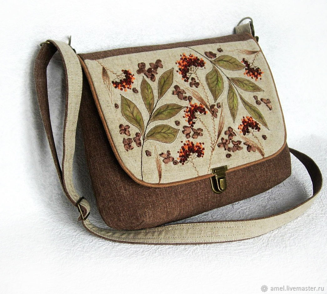 "Handbags handmade. Livemaster - handmade. Buy Сумка ""Дикие травы"".Bag, bag handmade, bag decor, ribbon satin"