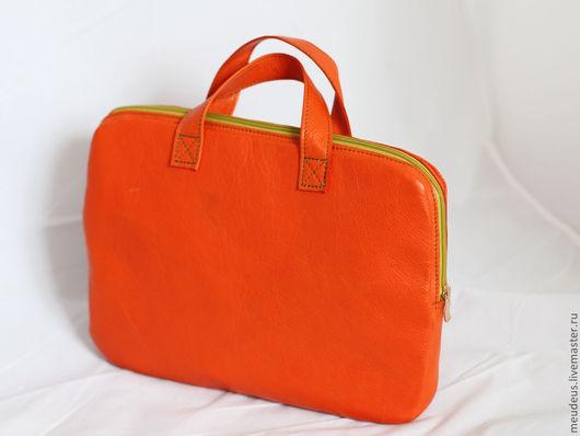 Женские сумки ручной работы. Ярмарка Мастеров - ручная работа. Купить Сумка/папка для бумаг оранжевая арт.210. Handmade. Рыжий