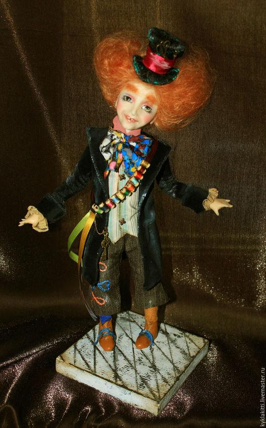 Коллекционные куклы ручной работы. Ярмарка Мастеров - ручная работа. Купить Шляпник. Handmade. Комбинированный, алиса в стране чудес, бархат