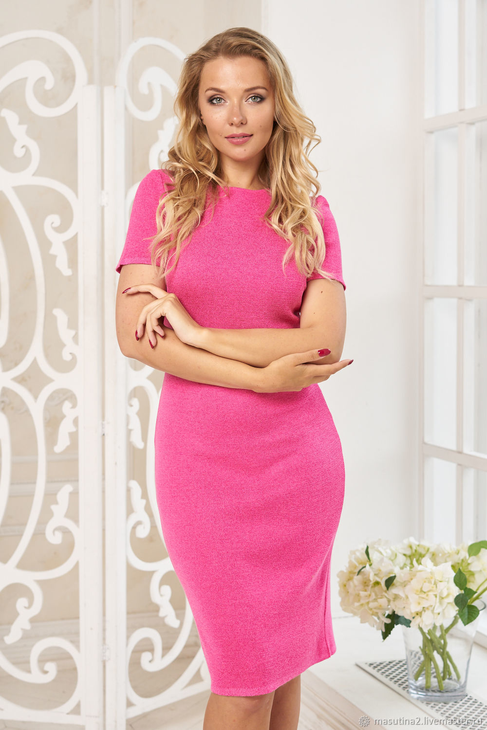 Dress 'Business classic' fuchsia, Dresses, St. Petersburg,  Фото №1