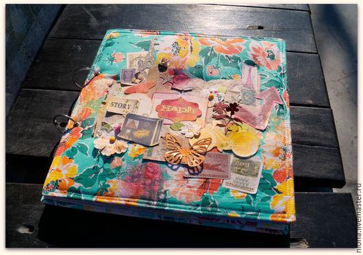 Фотоальбомы ручной работы. Ярмарка Мастеров - ручная работа. Купить Большой тревел-альбом. Handmade. Разноцветный, фотоальбом, тревел, дача