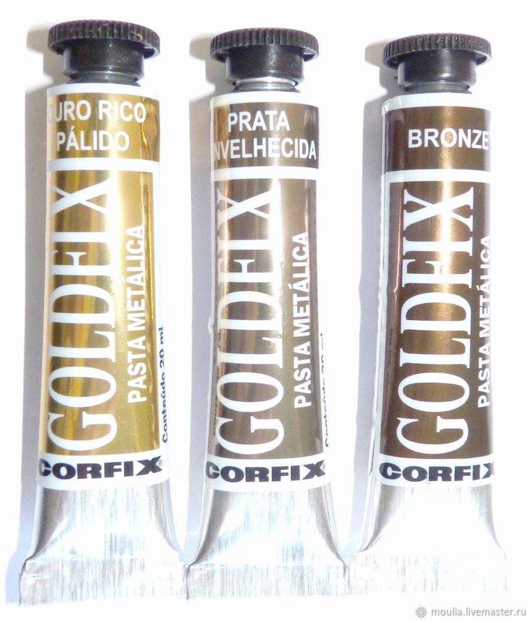 Паста для золочения Goldfix, металлик, 20 мл.