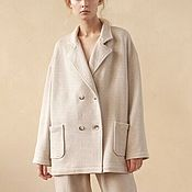 Одежда handmade. Livemaster - original item Knitted oversize coat with pockets. Handmade.