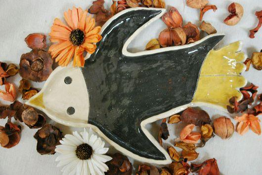 """Салатники ручной работы. Ярмарка Мастеров - ручная работа. Купить Тарелка """"Пингвинчик"""". Handmade. Керамика, керамика ручной работы"""