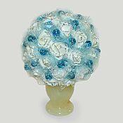 """Цветы и флористика ручной работы. Ярмарка Мастеров - ручная работа Цветы из топаза """"Топазовое счастье"""" в вазочке из оникса. Handmade."""