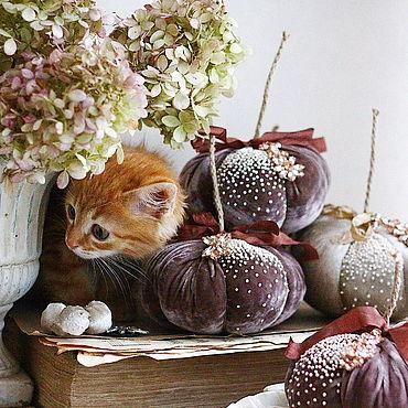 Для дома и интерьера ручной работы. Ярмарка Мастеров - ручная работа Velvet pumpkins. Handmade.