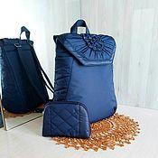 """Рюкзаки ручной работы. Ярмарка Мастеров - ручная работа Стильный рюкзак однотонный """"Роза""""(маленький,большой). Handmade."""