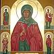 Именная Икона с предстоящими. Святая мученица Евдокия Сафронова.