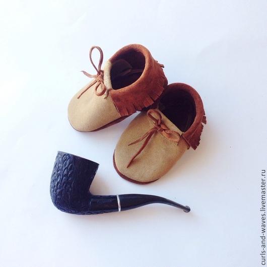 Детская обувь ручной работы. Ярмарка Мастеров - ручная работа. Купить Детская обувь из натуральной кожи. Handmade. Коричневый, однотонный