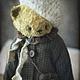 Мишки Тедди ручной работы. Ярмарка Мастеров - ручная работа. Купить Васёна. Handmade. Желтый, пальто, винтажный плюш