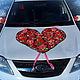 Свадебные аксессуары ручной работы. Ярмарка Мастеров - ручная работа. Купить Сердце из роз на капот машины. Handmade. Разноцветный