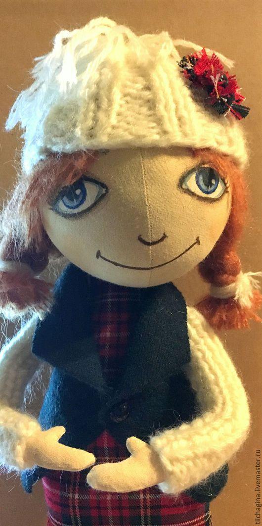 Куклы тыквоголовки ручной работы. Ярмарка Мастеров - ручная работа. Купить Текстильная кукла Варя. Handmade. Комбинированный, кукла