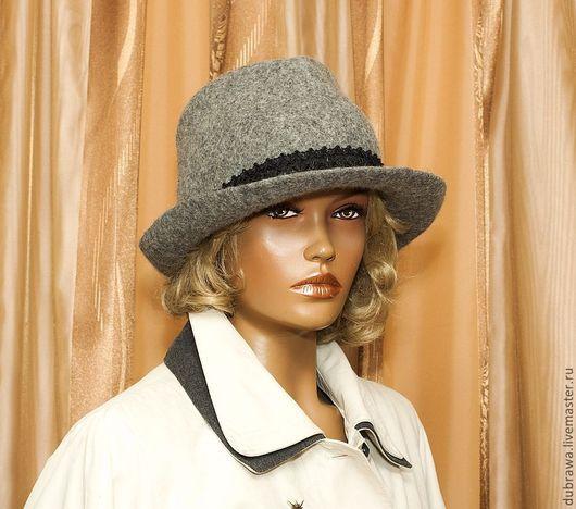 """Шляпы ручной работы. Ярмарка Мастеров - ручная работа. Купить Шляпа с полями """" Любимая """". Handmade. Серый"""