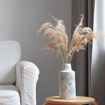 Для дома и интерьера ручной работы. Ярмарка Мастеров - ручная работа Текстурная ваза ручной работы в сером цвете. Handmade.