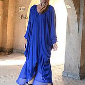 Одежда ручной работы. Ярмарка Мастеров - ручная работа Платье, Летнее платье, Платье в пол, Синее платье, Одежда ЕУГ. Handmade.