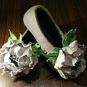 Обувь ручной работы. Ярмарка Мастеров - ручная работа Тапочки валяные.. Handmade.