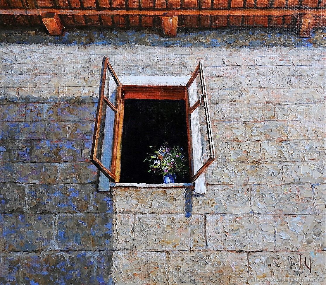 Window. Oil painting, 35h40 cm, Pictures, Moscow,  Фото №1