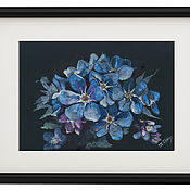 Pictures handmade. Livemaster - original item Painting interferential watercolor forget-me-Nots. Handmade.