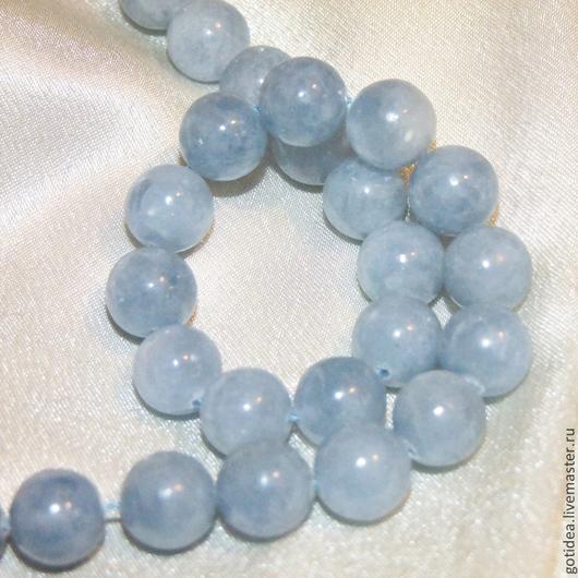 Для украшений ручной работы. Ярмарка Мастеров - ручная работа. Купить Небесный камень ЦЕЛЕСТИН бусины шар голубой камень. Handmade.