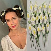 Шпилька ручной работы. Ярмарка Мастеров - ручная работа Шпилька: калла на шпильке, цветы в прическу. Handmade.