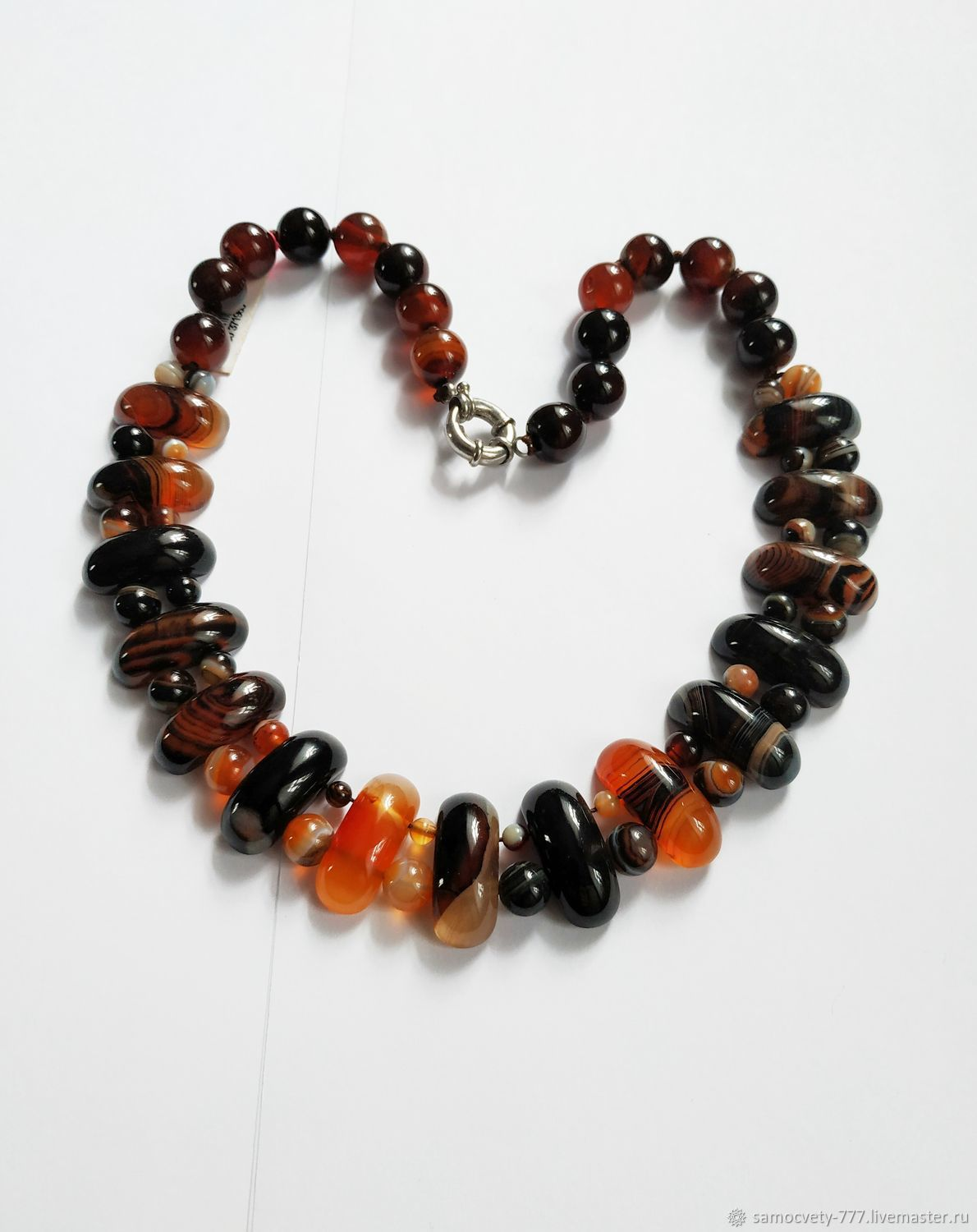 Beautiful decoration ' Tiger agate', Necklace, Feodosia,  Фото №1
