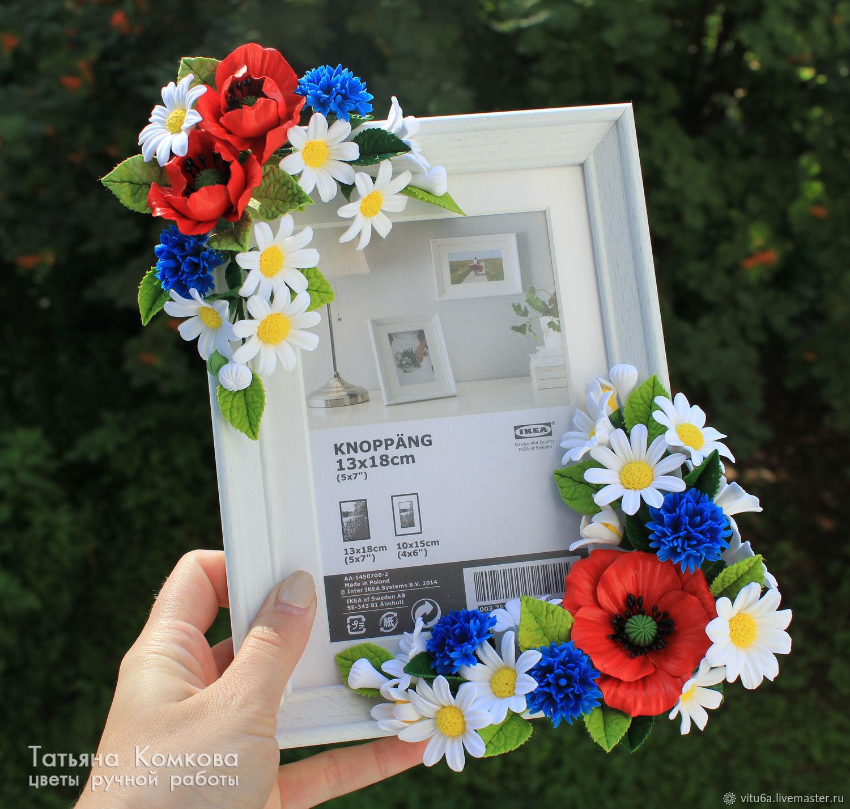 фоторамка с полевыми цветами купить в интернет магазине на ярмарке