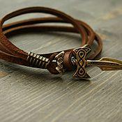 Украшения handmade. Livemaster - original item Bracelet made of genuine leather, elven sword. Handmade.