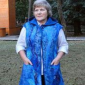"""Одежда ручной работы. Ярмарка Мастеров - ручная работа Жилет-пальто """" Море"""". Handmade."""