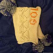 Работы для детей, handmade. Livemaster - original item Cap-hood for the spring Alpaca and cashmere for girls 1-2 years. Handmade.