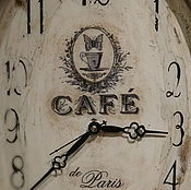 Для дома и интерьера ручной работы. Ярмарка Мастеров - ручная работа Часы настенный Кафе Париж. Handmade.
