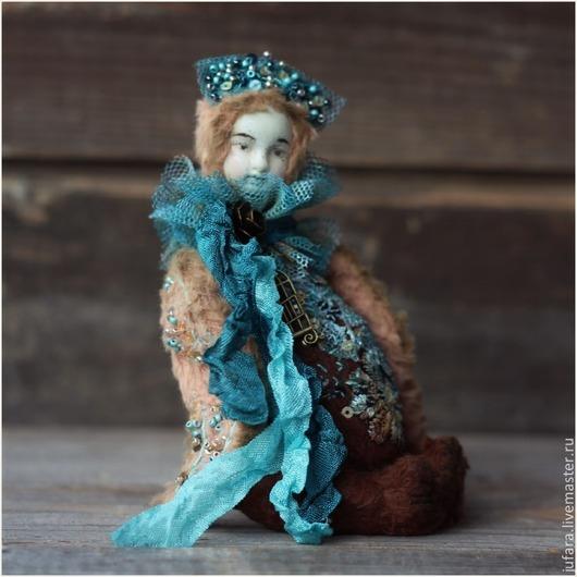 Мишки Тедди ручной работы. Ярмарка Мастеров - ручная работа. Купить Teddy Doll Sirin - ХТ. Handmade. Тёмно-бирюзовый