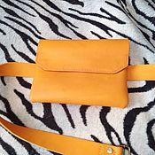 Поясная сумка ручной работы. Ярмарка Мастеров - ручная работа Поясная сумка женская из кожи. Handmade.
