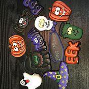 Сувениры и подарки ручной работы. Ярмарка Мастеров - ручная работа Halloween. набор имбирного печенья. Handmade.