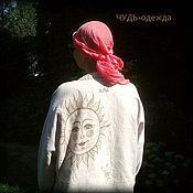 Одежда ручной работы. Ярмарка Мастеров - ручная работа Рубаха-туника льняная.  ЧУДЬ. Handmade.