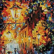 Картины и панно ручной работы. Ярмарка Мастеров - ручная работа вышитая картина Фонари. Handmade.