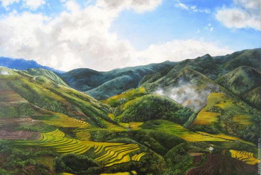 """Пейзаж ручной работы. Ярмарка Мастеров - ручная работа. Купить Картина маслом.  """"Горы и Небо"""".. Handmade. Картина, реализм, горы"""