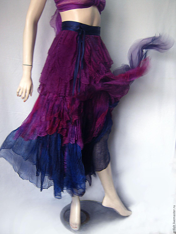"Skirts handmade. Livemaster - handmade. Buy Wraparound skirt  boho style  ""Mirage"".Boho, summer skirt, skirt photo"